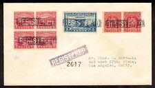 20th Century U.S. Fancy Cancel; Registered Cover; Mishawaka, IN