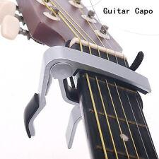 Aluminum Guitar Capo Spring Trigger Quick Change Release Electric Acoustic Clamp
