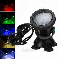 Multicolor 36 LED Underwater Spot Flood Light Submersible Lamp Fr Fish Tank Pond