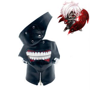 Anime Tokyo Ghoul Kaneki Ken Leather Zipper Costume Mask Cosplay Prop