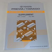 Workshop Manual Toyota Previa/Tarago Electrical Wiring Diagram Supplement