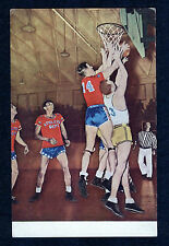 Keesler Field Biloxi Ms Air Force Base Original Basketball Photo Postcard 1940s