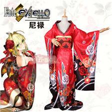 FATE EXTELLA Nero Kimono saber Vibrating sleeve kimono bathrobe Cosplay Costumes