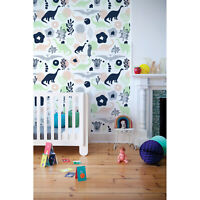 Non-Woven wallpaper traditional Home  Colorful Dinosaurs Kids Baby pattern Mural