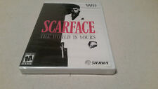 Scarface: The World is Yours (Nintendo Wii, 2007) NEW SEALED