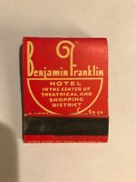 Benjamin Franklin Hotel Philadelphia PA Vintage Matchbook Travel Souvenir