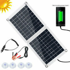 20W/100W Watt Solar Panel USB Kit for 12V Battery Power Charge / Controller Home