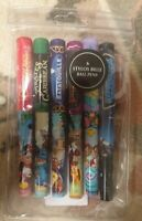 SET 6 STYLOS BILLE / BALL PENS ATTRACTIONS Disneyland Paris