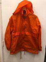 B&C BA601 Men's Sirocco Orange Waterproof Windproof Jacket Rain Coat S