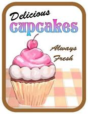 Retro Style Cupcakes Advertising Sign  door sign, Wall Hanger Sign
