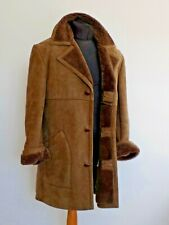 Men's Genuine Sheepskin Fur Lined Warm Winter Coat