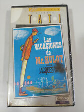 JACQUES TATI THE HOLIDAY OF MR HULOT VHS TAPE SPANISH NEW NEW