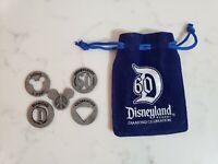 Rare DISNEYLAND 60th Anniversary DIAMOND Celebration Velvet Bag CoinsTokens