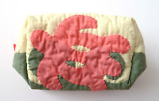 """Hawaiian Quilted All Purpose Bag - Sea Turtle in Pink, Green, Cream 5""""x7"""""""