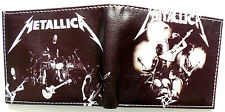 Metallica Rock Music Band Wallet id window Credit card slots zipped coin pocket