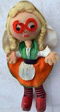Bambola di pezza anni 40/50 bimba olandese con zoccoli di legno