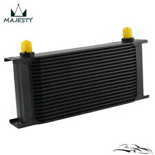 "19 Row 8AN Universal Engine Transmission Oil Cooler 3/4""UNF16 AN-8 Black"