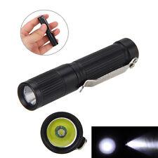 MINI 300LM CREE R5 Portable LED Pocket Flashlight Torch Clip Hunt AAA/10440 Lamp
