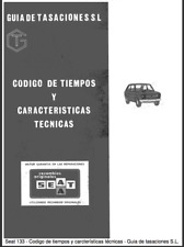 Manual de Características técnicas de Seat 133 (En CD) Workshop Reparation.