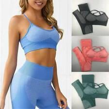 Women's Seamless Yoga Suit Bra Tops & Pants Sports Vest Leggings Fitness Gym Set