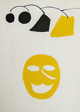 CALDER - HAPPY FACE - ORIGINAL LITHOGRAPH - 1976 - FREE SHIP IN US