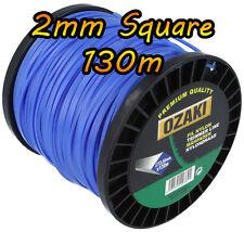 130m x 2mm Square-Decespugliatore Cavo Linea Filo-Flymo BOSCH Stihl BLACK & DECKER