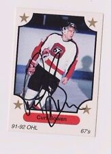 91/92 Curt Bowen Ottawa 67's Autographed OHL Hockey Card