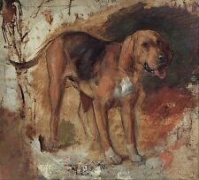 Study of a Bloodhound by Holman Hunt 1848 9x8 inch Photographic Reprint