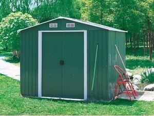metal garden shed outdoor storage workshop
