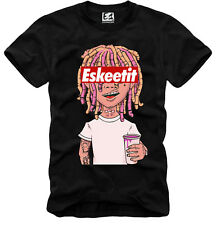 E1Syndicate T-Shirt Lil Pump SMOKEPURPP Cartoon Peep Xanax ESKETIT A485