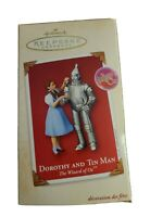 Hallmark Keepsake Ornament 2003 Dorothy and Tin Man wizard of Oz NIB