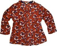 NEW IN! WHITE STUFF Rust / Burnt Orange AUTUMN Floral Blouse Top Shirt 6-18 FAB!