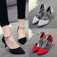 WOMENS LADIES CASUAL PARTY OFFICE WORK SMART HIGH HEELS COURT SHOES SIZES 1.5-7