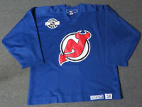 Used Dark Blue New Jersey Devils CCM Center Ice Practice Hockey Jersey MeiGray