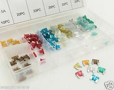 120 Assorted Car Truck Mini Low Profile Fuse 5,7.5,10,15,20,25,30 AMP