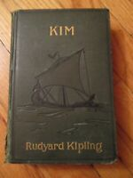 KIM by Rudyard Kipling, 1st Edition FIRST Printing 1901 RARE rhyming 8th & 13th.