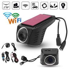 1080P HD Hidden WIFI Car DVR Camera Video Recorder In Dash Dual Cam Night Vision