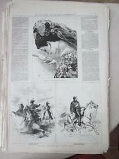 Vintage Print,LIGHT BRIGADE CHARGE BALAKLAVA,Nov12,1875,Centennial Daily Graphic