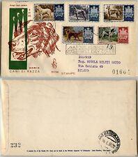 SAN MARINO-FDC 32/2SM-Cani d razza-Busta x Milano 8.6.1956