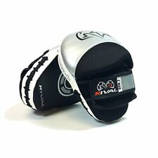 Rival RPM7 Fitness Plus Punch Mitts Silver Black Leather Training Focus Pads
