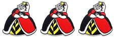New listing Alice in Wonderland Queen of Hearts 4 Inches Tall Embroidered Set of 3 Patches