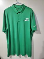 Nike Golf Dri-Fit Standard Fit Green Golf Polo Shirt Mens 2XL XXL