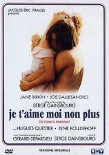 Dvd Je t'aime Moi non Plus - (Versione Integrale) (1976) .....NUOVO