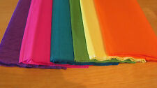 "6 SHEETS OF CREPE PAPER 19""x78"" BRIGHT PAPER FLOWER MIX"
