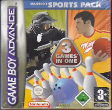 Game Boy Advance GBA MAJESCO'S SPORTS PACK ~ BOWLING ~DODGEBALL ~PAINTBALL nuovo