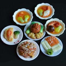 33Pcs/set Mini Dollhouse Kitchen Food Dishes Plate Model Serving DIY Kids Toys