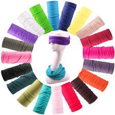 Unisex Solid Color Scarf Tube Bandana Head Face Mask Neck Gaiter Snood Headwear#