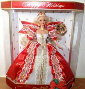 Happy Holidays Barbie 1997 Blonde  Exclusive Special Mattel Damaged Box