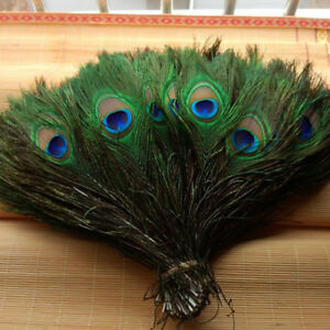 """10/30/100Pcs Artificially Peacock Feathers 10-12"""" Stage Costume Makeup Tools"""