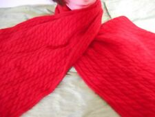 "Hasting & Smith Red Wool Blend  Scarf  58""x13"""